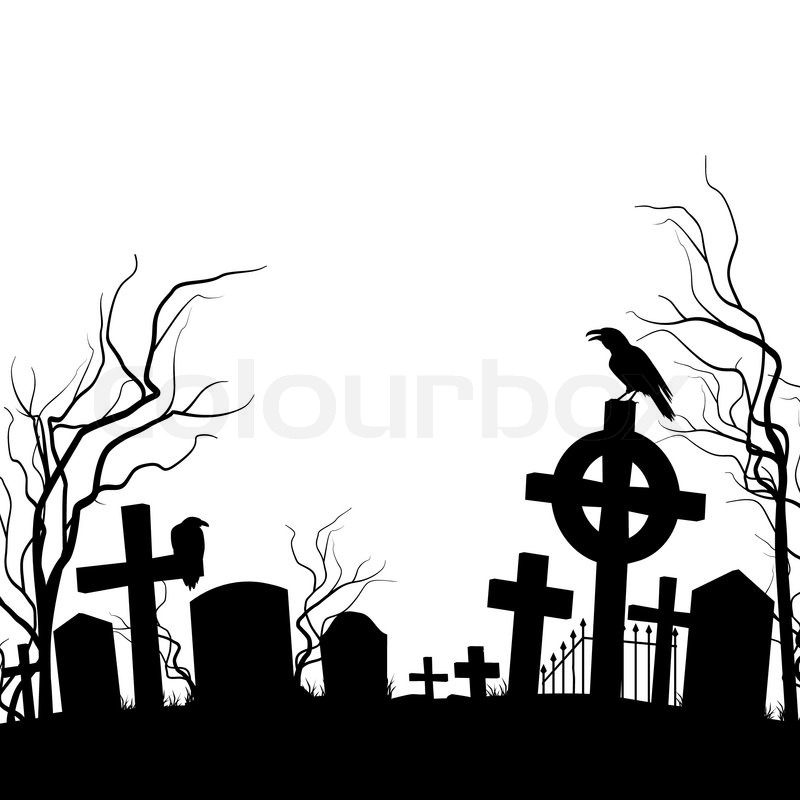cemetery raven sitting on the tombstone black and white cemetery clip art free cemetery clipart png