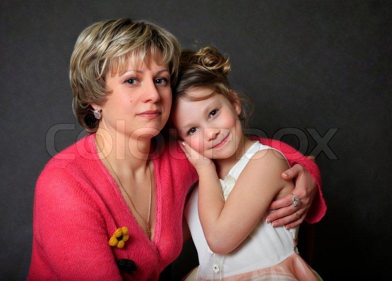 фото мама с дочкой в конче
