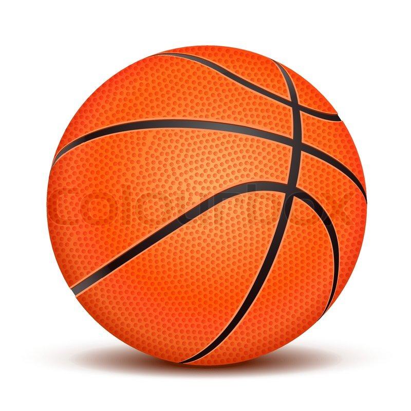 realistische basketball ball isoliert auf wei223em
