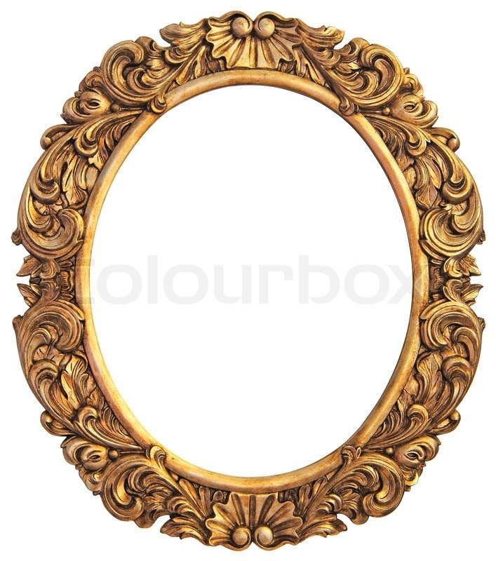 Antique gilded Frame Isolated with Clipping Path | Stock Photo ...