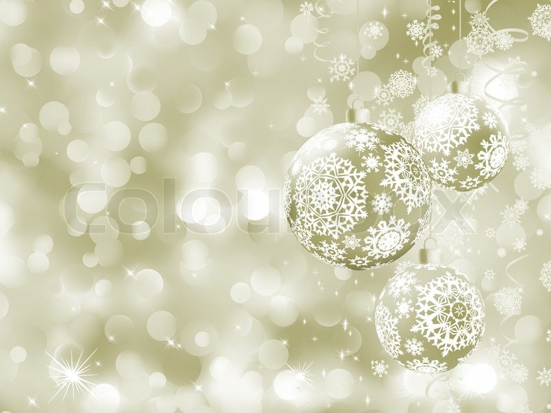 Elegant Christmas Background With Snowflakes Stock Vector: Elegant Christmas Balls On Abstract ...