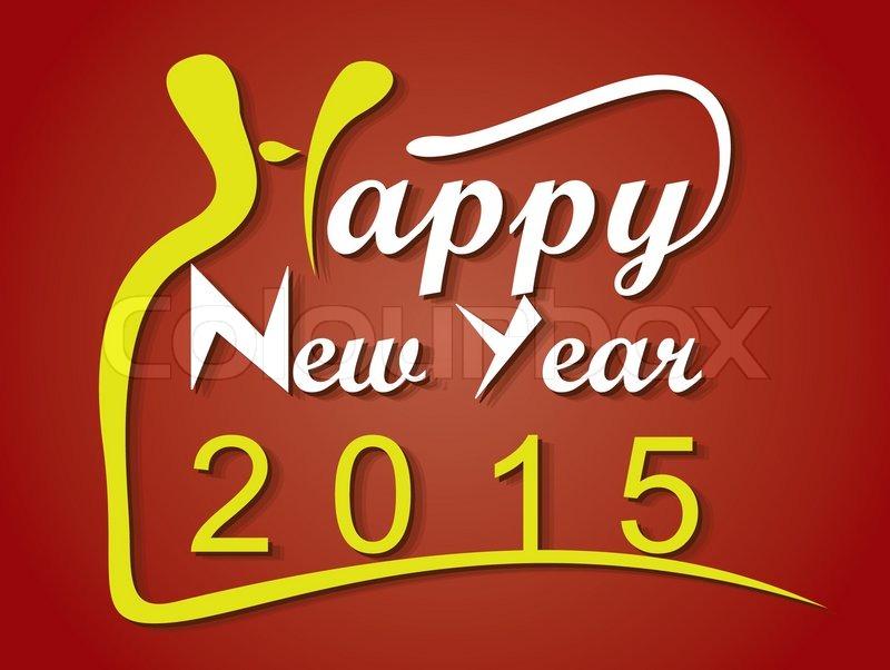 Happy new year 2015 creative greeting card design stock vector happy new year 2015 creative greeting card design stock vector colourbox m4hsunfo