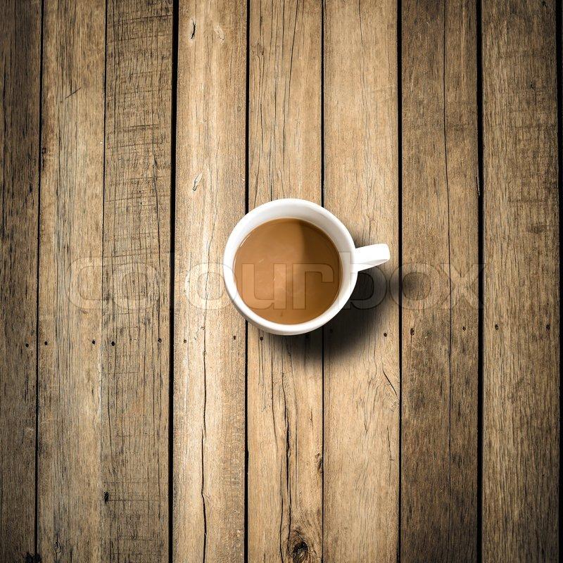 Coffee Mug On Wooden Table Stock Photo Colourbox