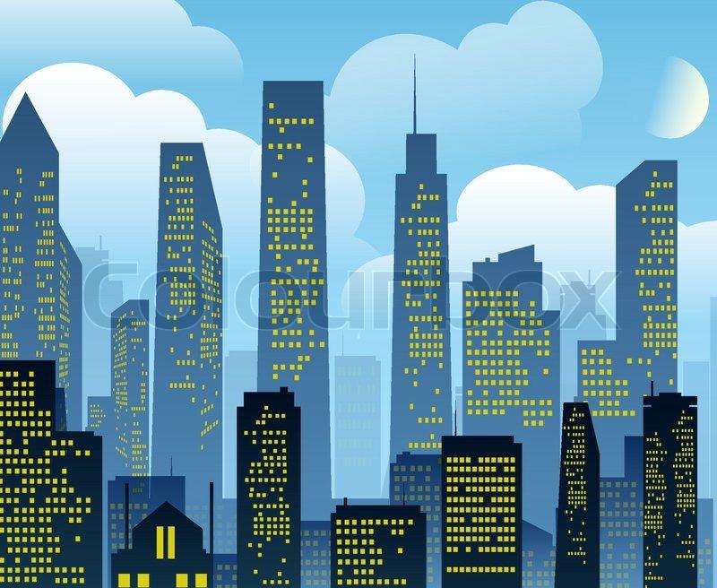 cartoon city background vector eps 10 stock vector colourbox rh colourbox com cartoon city background hd cartoon city background vector