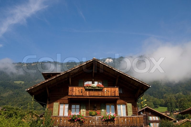 Swiss Mountain House traditional swiss mountain house | stock photo | colourbox