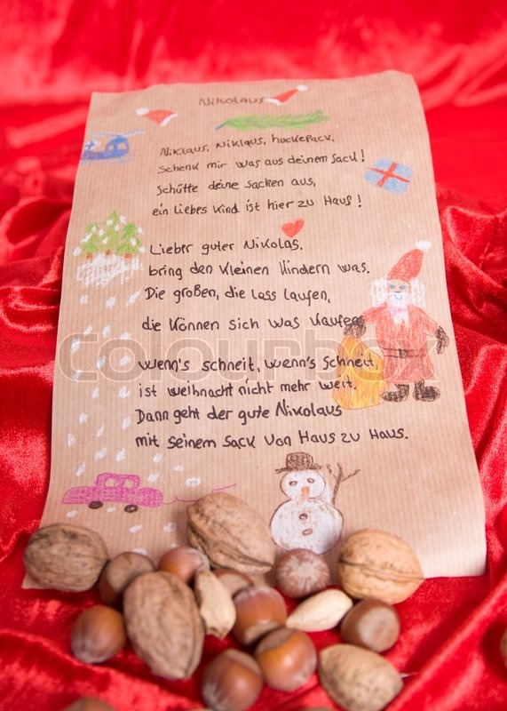 German Christmas song and mixed nuts | Stock Photo | Colourbox