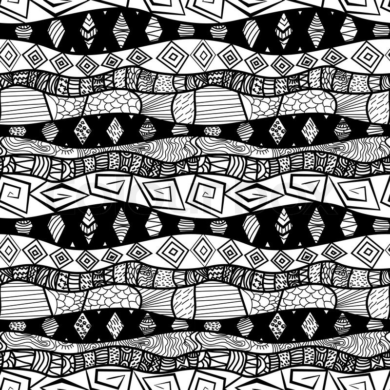 Cool Black And White Tribal Patterns - photo#18