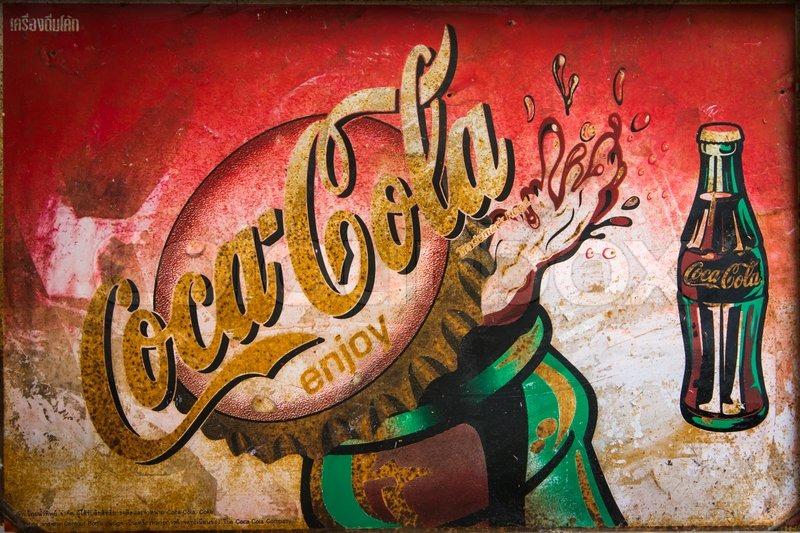Genoeg BANGKOK, THAILAND - MARCH 11 : Coca-Cola vintage advertising  #OM82