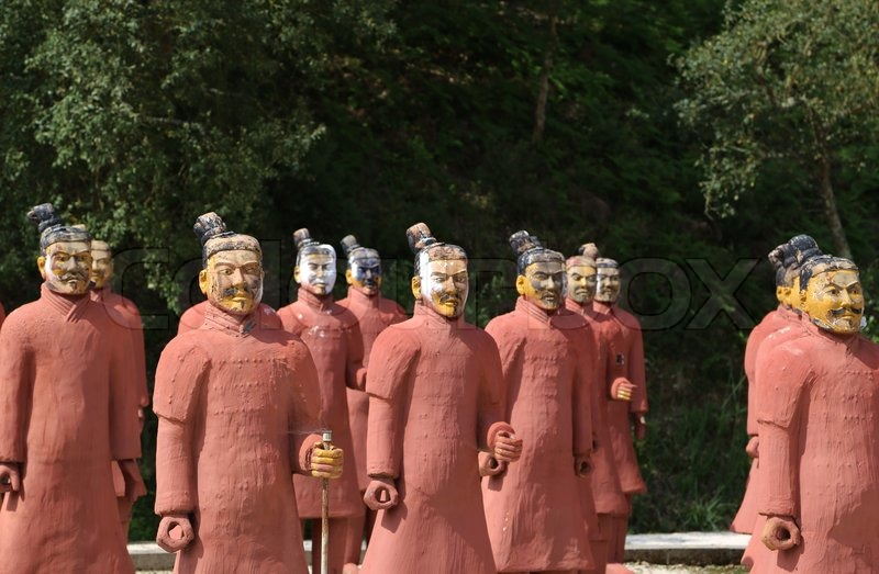Exceptionnel Stock Image Of U0027Terracotta Army, Chinese Warriors, Soldiers, Statue,  Oriental Gods