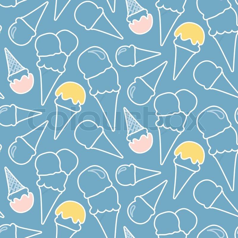 Seamless Ice Cream Background: Seamless Summer Ice Cream Pattern ...