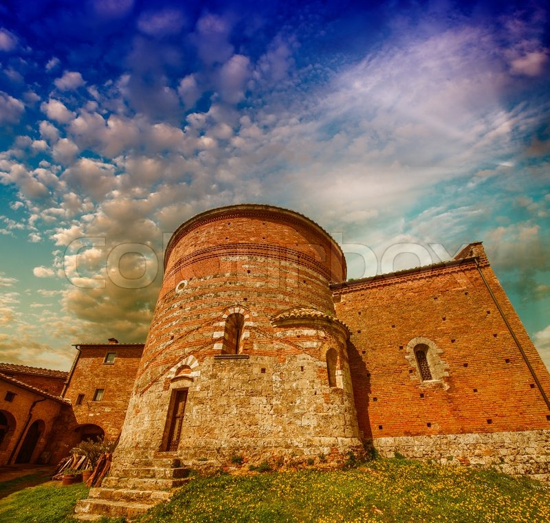 Ancient European Architecture and landmarks, stock photo
