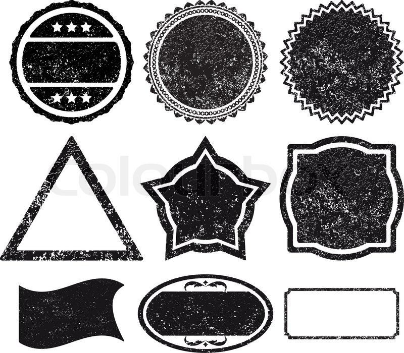 9 stempel vorlage festlegen vektorgrafik colourbox. Black Bedroom Furniture Sets. Home Design Ideas