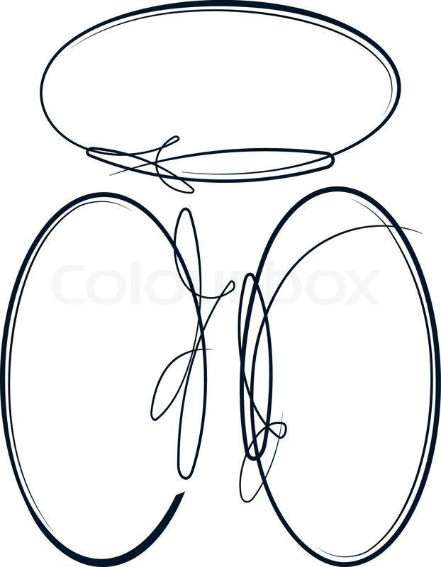 Schöne Sammlung von ovalen Rahmen. Vektor   Vektorgrafik   Colourbox