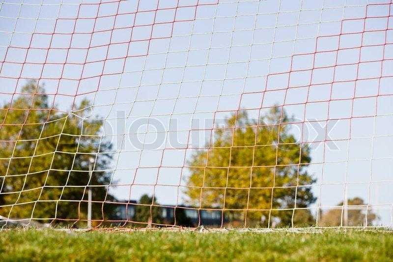 Net of a football goal, stock photo