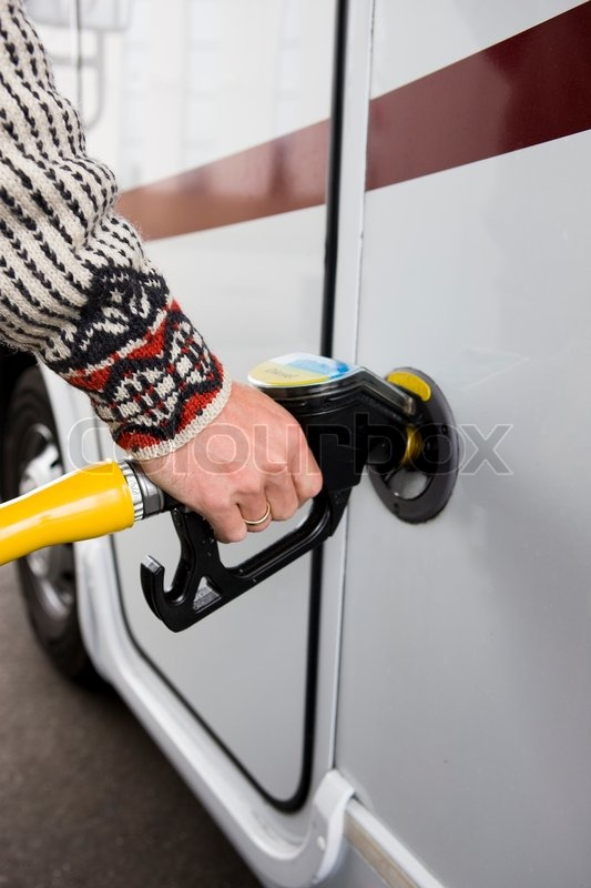 Stock image of 'Gasoline filling pump station'