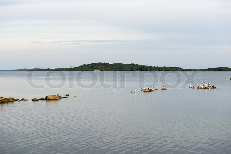 Stock image of 'View from Rügen towards the island Vilm in Germany'