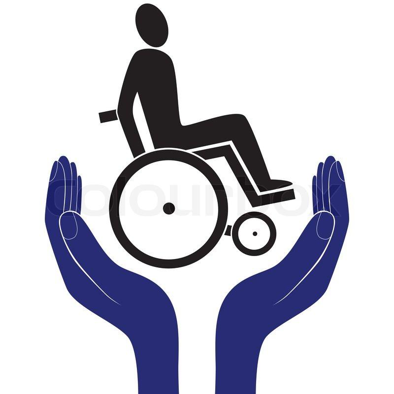 Behinderte Ungultig Pflege Zeichen Vektor Schutz Schild Vektor Hand In Menschen Ermutigung Hilfe Vektor Unterstutzung Leben Gesundheitsversorgung Vektor 10253083 on Insurance Icon Clip Art