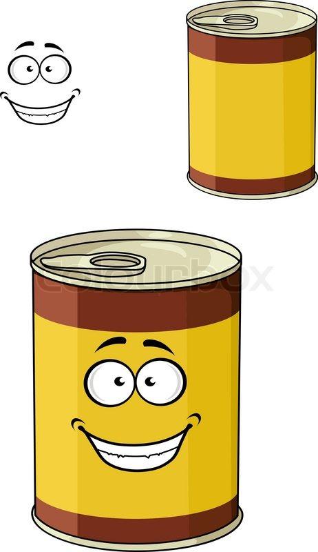 Cartoon Dose Konserven mit ein glücklich lächelndes ...