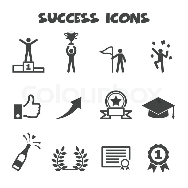 Erfolg-Symbole | Vektorgrafik | Colourbox