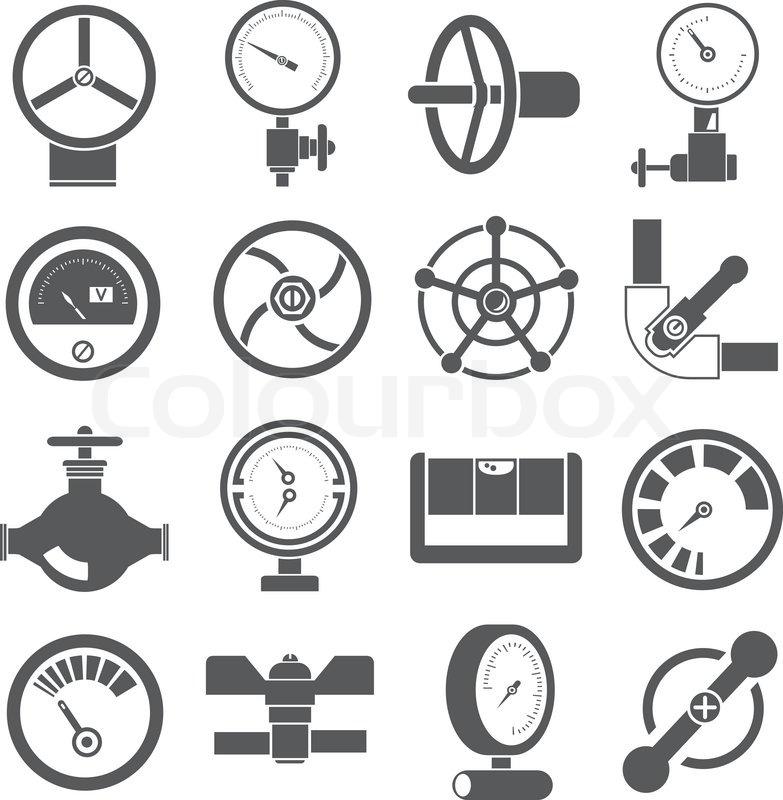 Ventil Symbole | Vektorgrafik | Colourbox