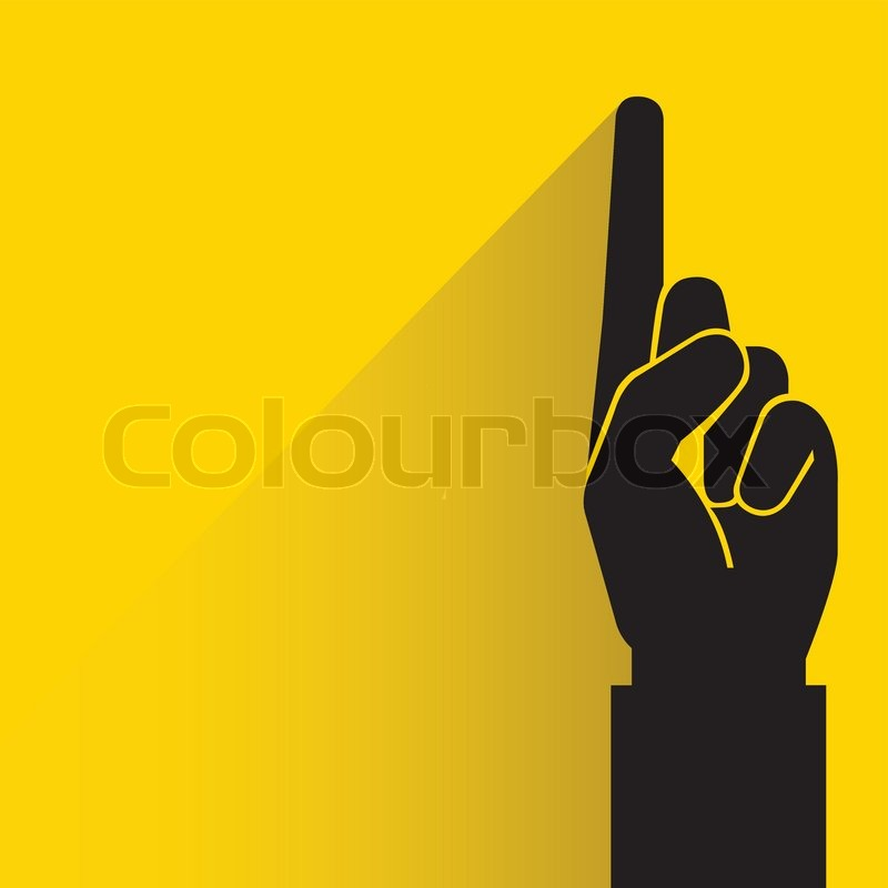 number one hand sign stock vector colourbox