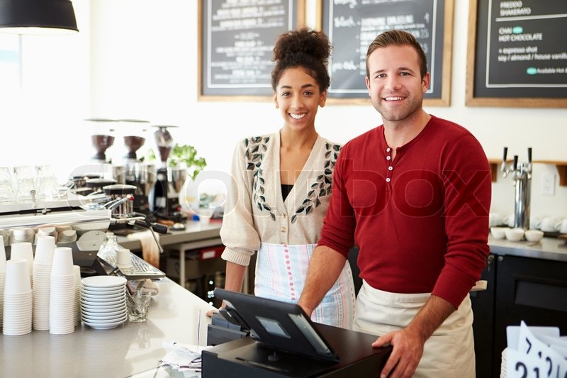Male Owner Of Coffee Shop, stock photo