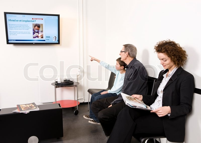 Patients Waiting In A Dental Clinic S Reception Room