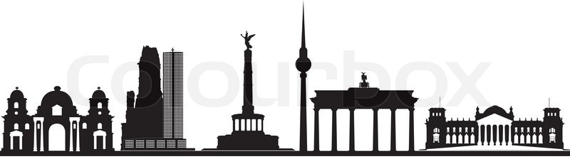 schattenbild skyline berlin stock vektor colourbox. Black Bedroom Furniture Sets. Home Design Ideas