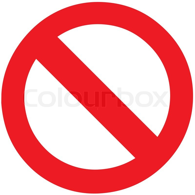 The Empty Vector Of Stop Sign Symbol Zone For Add Any Forbidden
