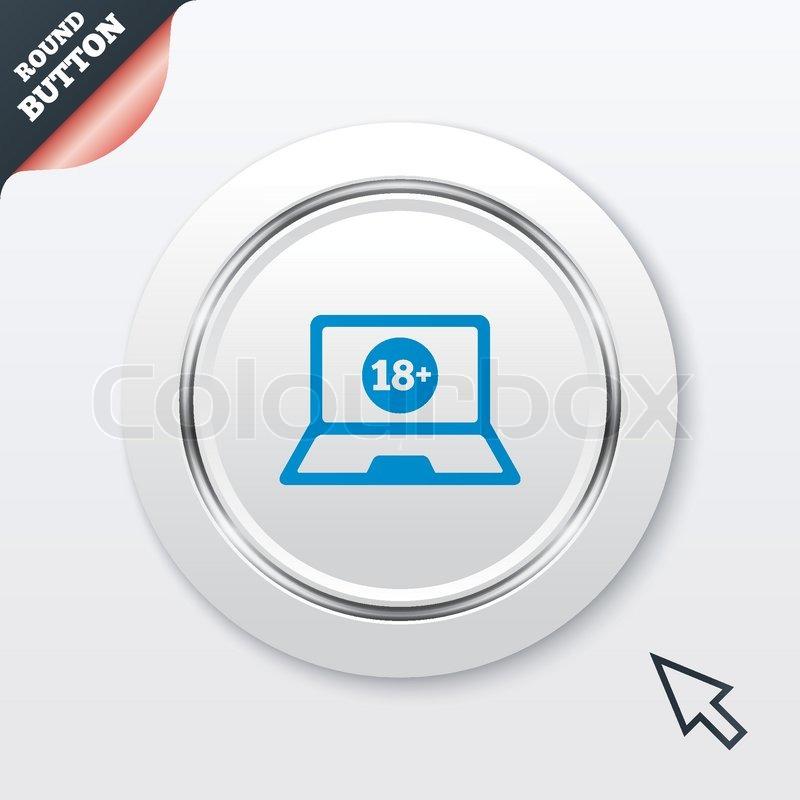 Erwachsene Inhalte Laptop-Symbol. Website für Erwachsene ...