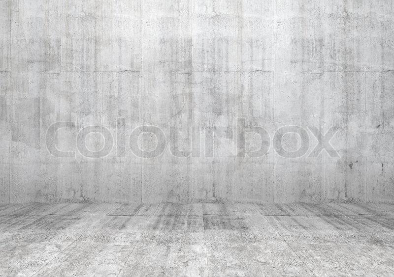 abstrakt wei innere leere zimmer mit betonwand und boden. Black Bedroom Furniture Sets. Home Design Ideas