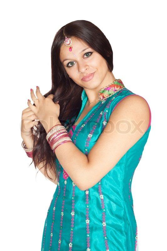 White indian girl