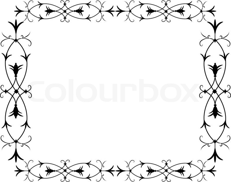 Reich verzierten Rahmen | Vektorgrafik | Colourbox