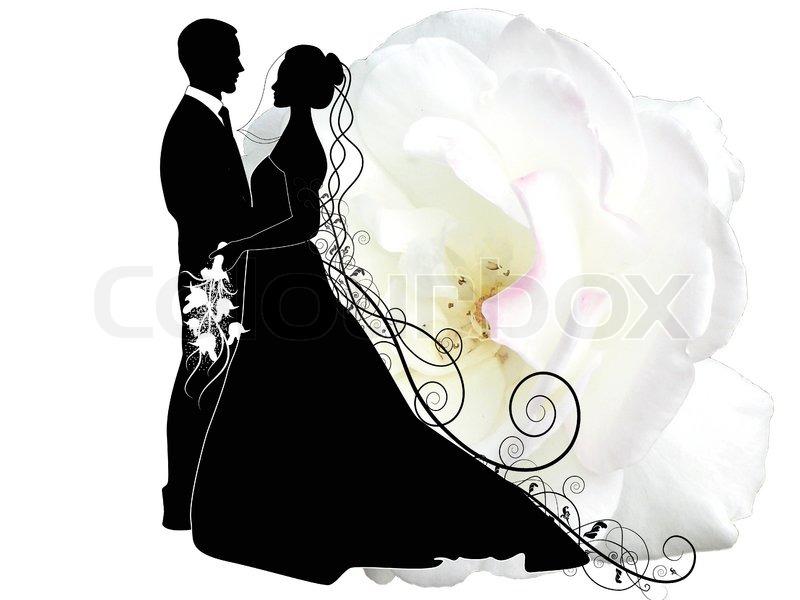 Hochzeitspaar Vektorgrafik Colourbox