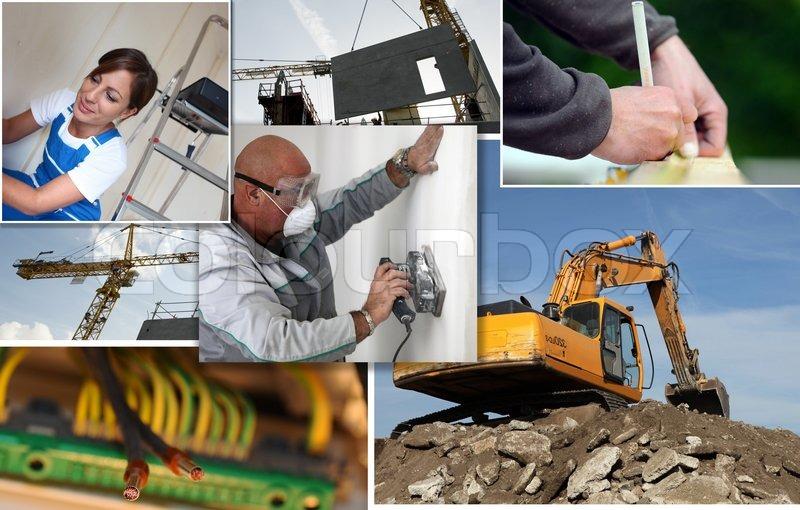 Different jobs, stock photo