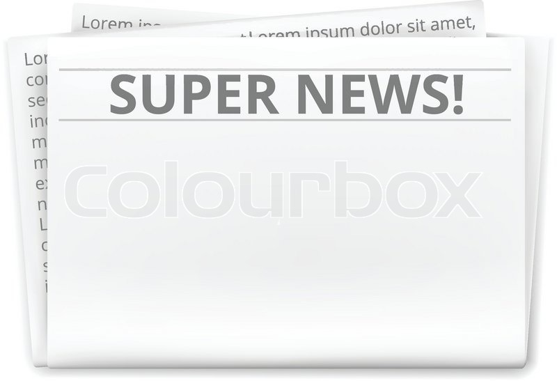 Newspaper Template Stock Vector Colourbox