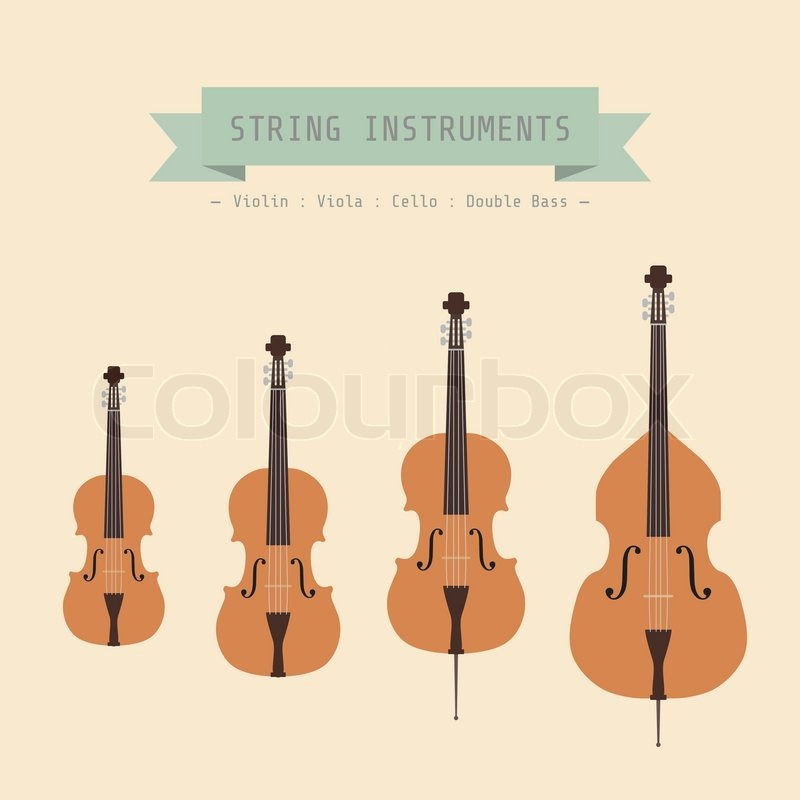 Stock Vector Of Musical Instrument String Violin Viola Cello And Double Bass