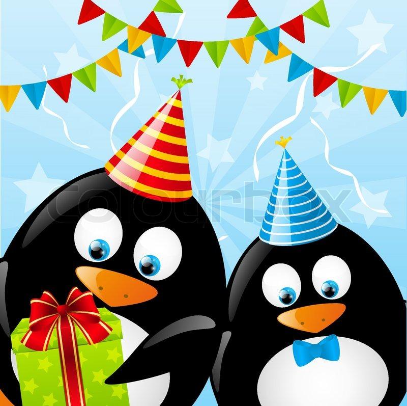 Поздравительная открытка с пингвинами, месяцев девочке картинки