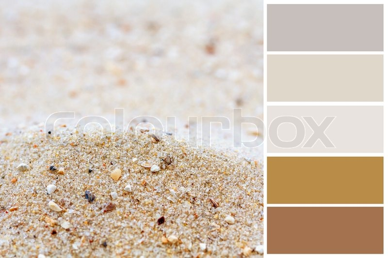 Sand Hintergrund Farbpalette Mit Kostenlosen Muster Stockfoto