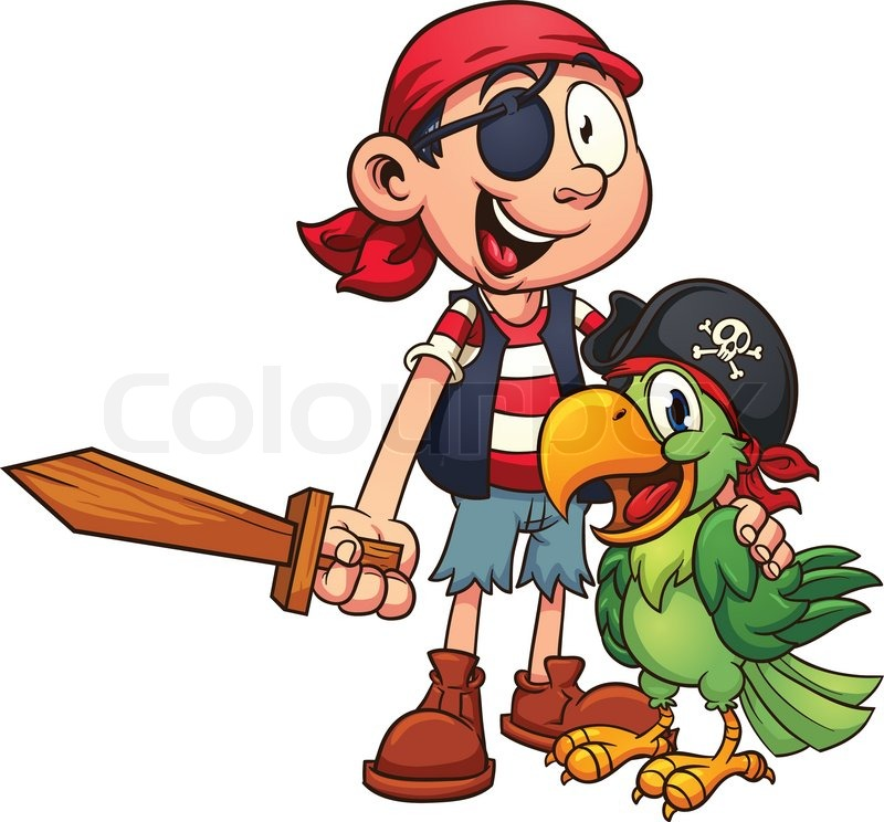 Pirate And Parrot Vector Clip Art Stock Vector Colourbox