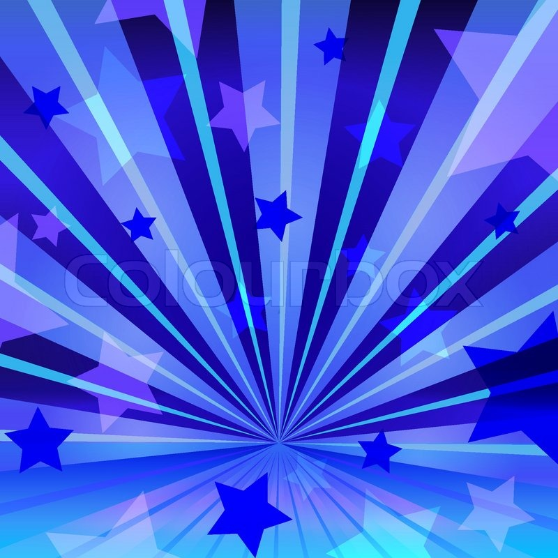abstract blue background with stars and radiating  eps 10