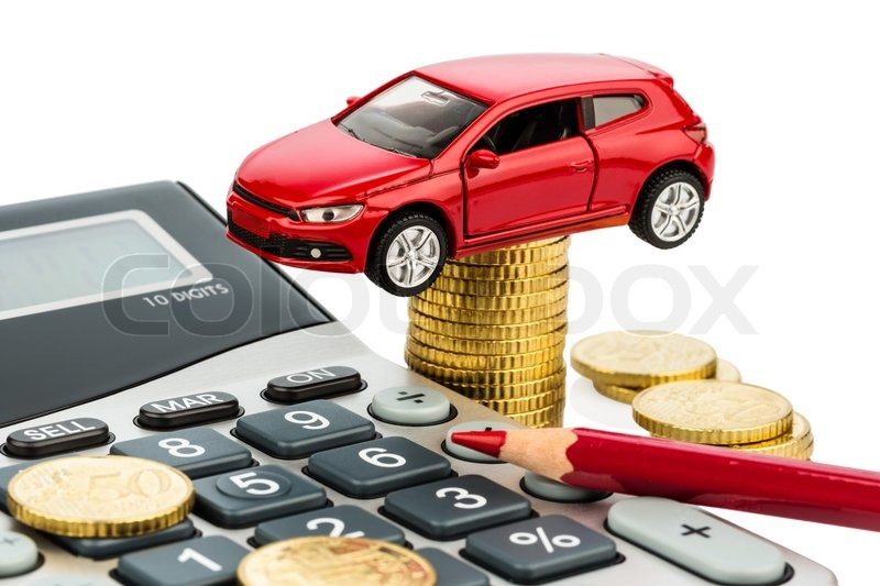 Car and calculator rising costs for buying a car leasing workshop