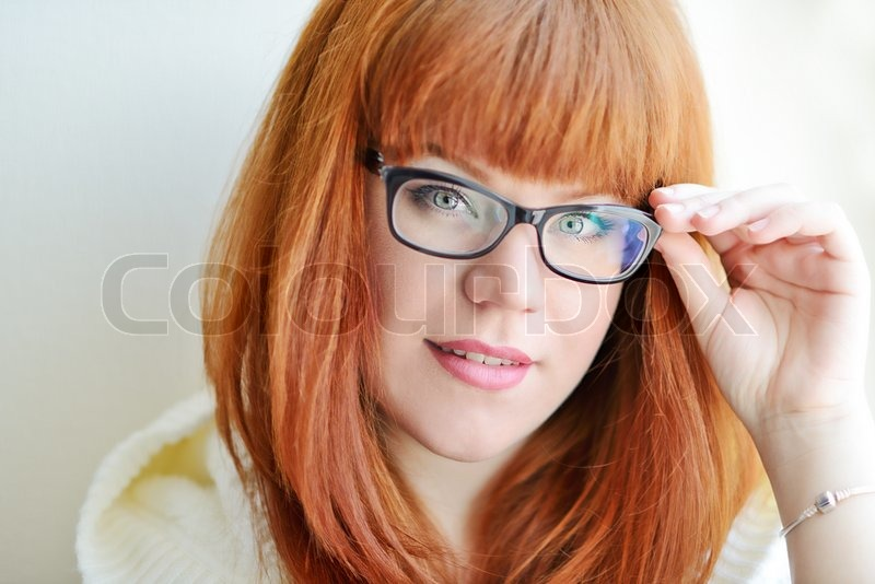 Exaggerate. Quite adult redhead glasses