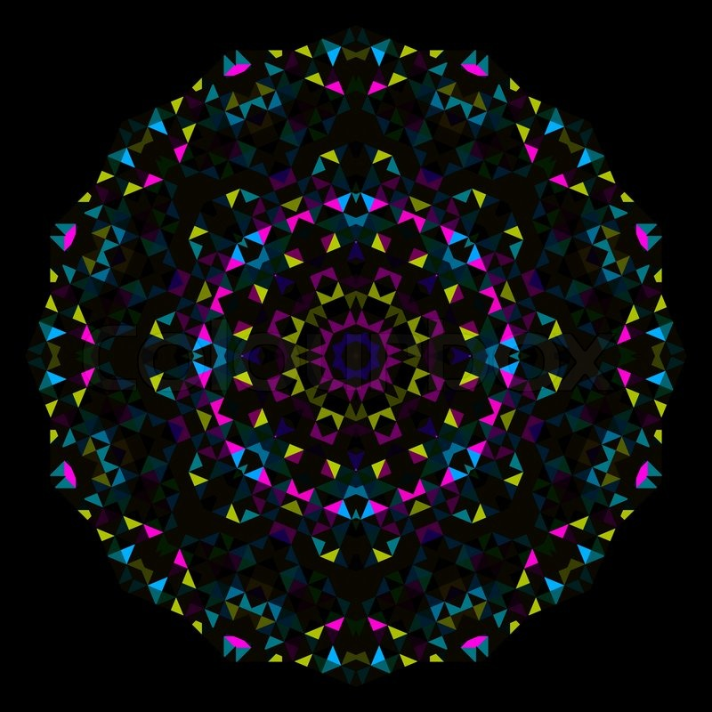 Abstract Flower Creative Colorful Style Vector Wheel Cyan Emerald
