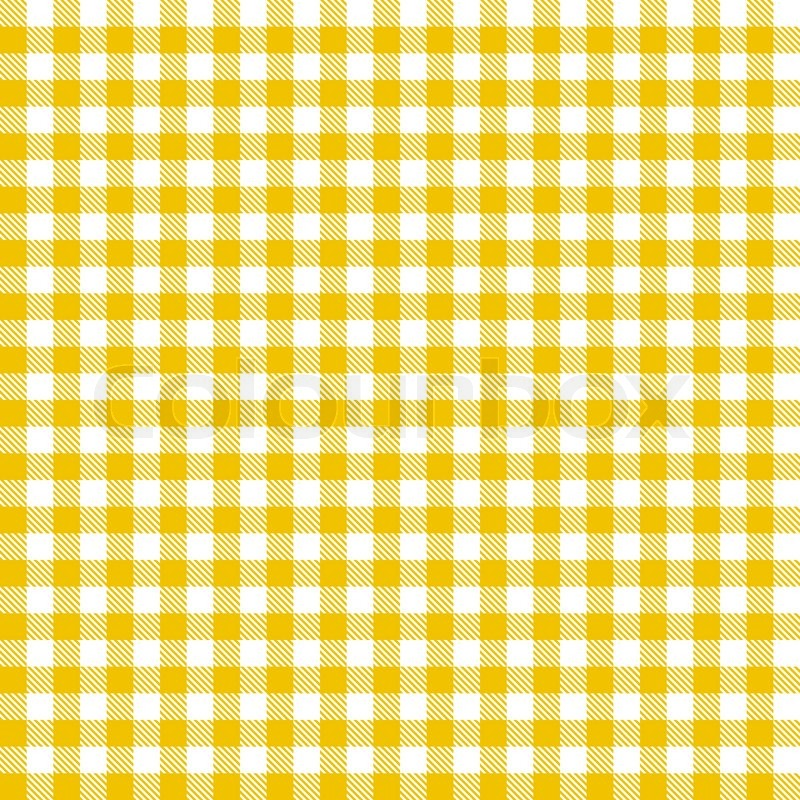 Checkered Tablecloths Pattern   Endless   Yellow   Stock Vector   Colourbox