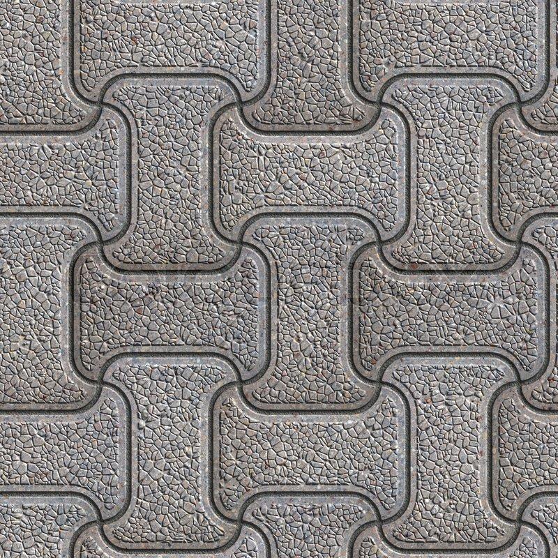 grey granular brick pavers seamless tileable texture stock photo