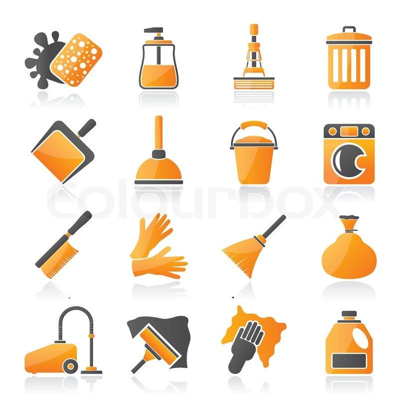Reinigung und Hygiene-Symbole | Vektorgrafik | Colourbox
