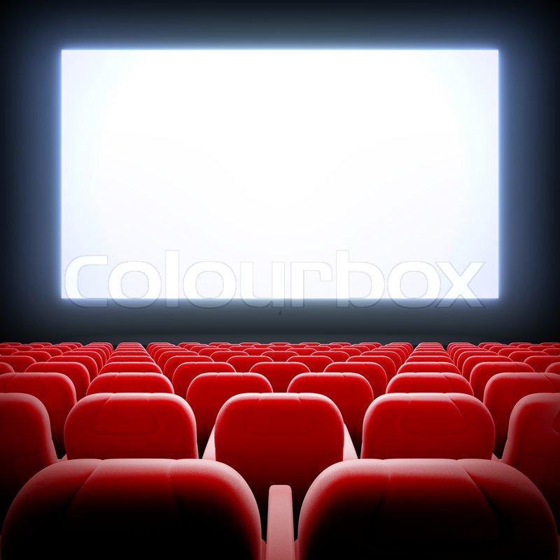 Leeren Kinosaal Stockfoto Colourbox