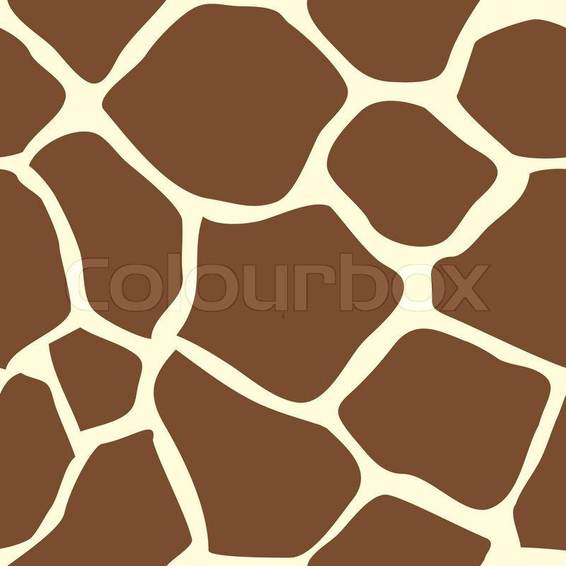 Seamless giraffe tiling animal print pattern. Created especially to ...