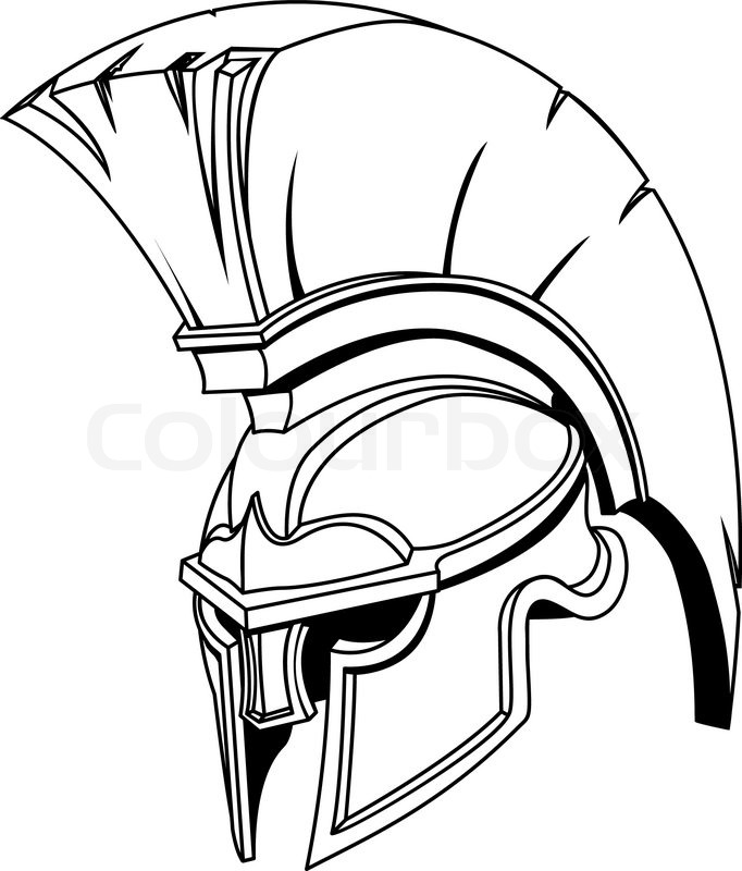 illustration der spartanischen r mische griechische trojaner oder gladiator helm stock vektor. Black Bedroom Furniture Sets. Home Design Ideas